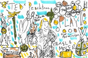 Pamela Meyer doodle from TEDx Peachtree