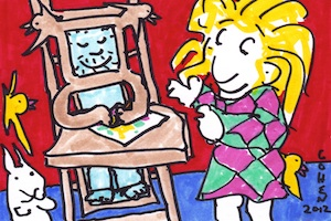 coloring with the magic mirror