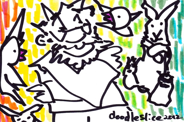 Giving directions - doodle no.1603
