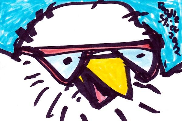 nerdy birdy - doodle no.1606 by Doodleslice a.k.a. David Cohen