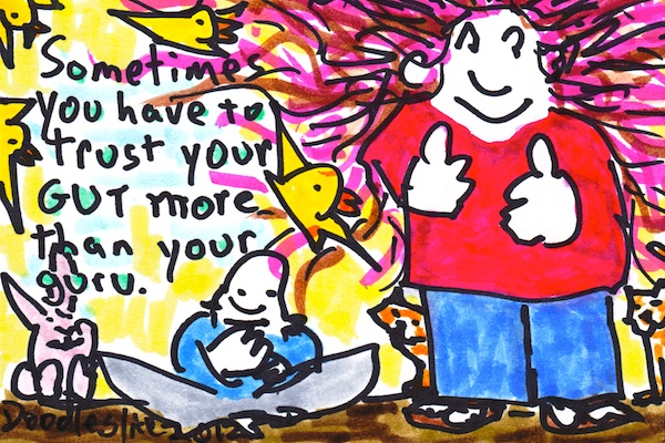gut and guru - doodle no.1607 by Doodleslice/David Cohen