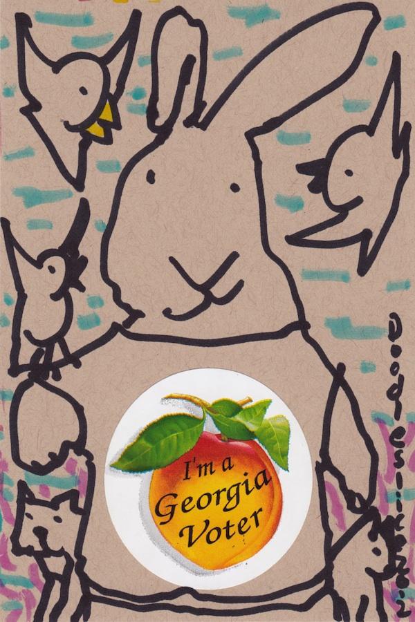 I'm a GA Voter 2012 - doodle no. 1616 by Doodleslice