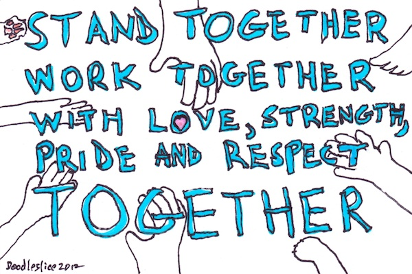 together, together - doodle no. 1618 by David Cohen a.k.a. Doodleslice