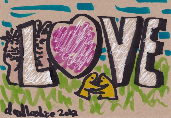 birthday love, doodle no. 1622 by doodleslice - david cohen