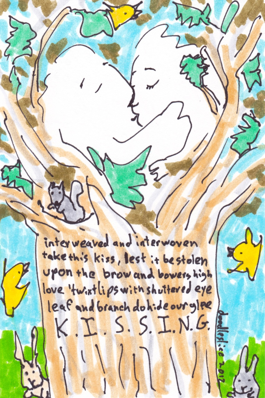 first comes love - a doodle no.1640 and poem by dooodleslice David Cohen