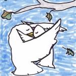 hug a bird - doodle no. 1652 by doodleslice David Cohen