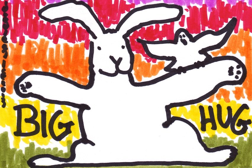 Big Hug Bunny - doodle no.1658 by doodleslice ?David Cohen