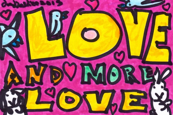 love and more love - doodle no.1666 by doodleslice david cohen