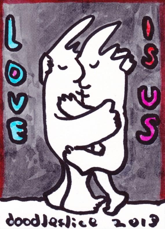 love is us, doodle no.1680 by david doodleslice cohen