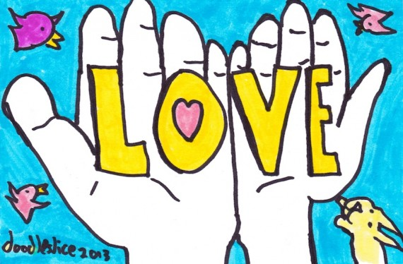 Love held in two hands - doodle no. 1687 by doodleslice