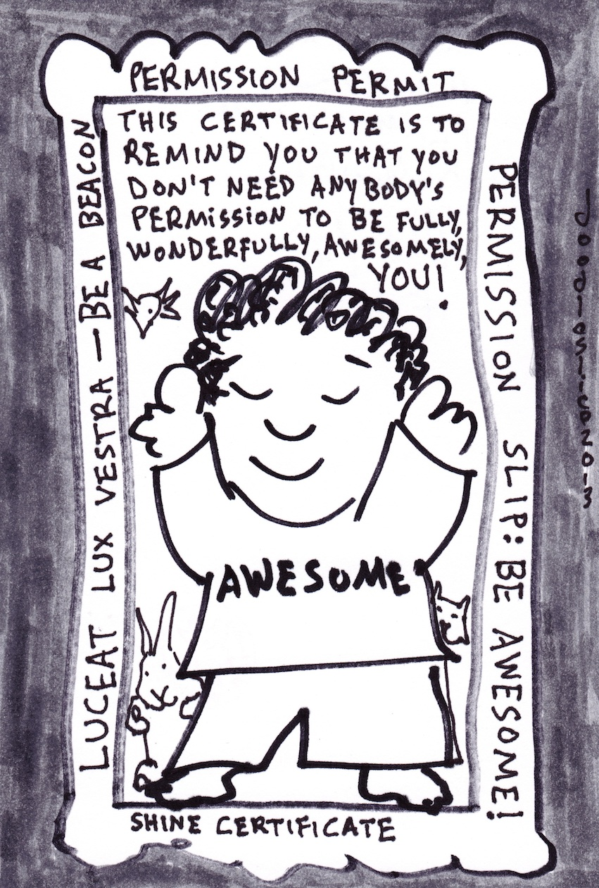 Permission not required - doodle no.1688 by David doodleslice Cohen
