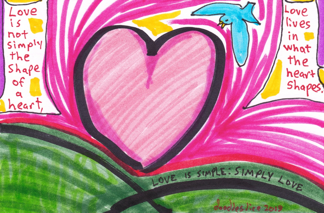 the shape of a heart - doodle no. 1698 by David Doodleslice Cohen
