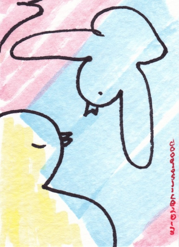 Love A Dove - doodle no.1699 by David Doodleslice Cohen