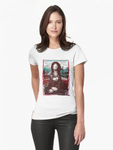 Bunny Lisa on a Woman's Tshirt